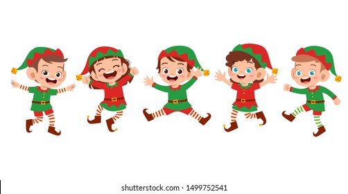 happy kids smile laugh expression set