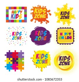 happy kids zone labels