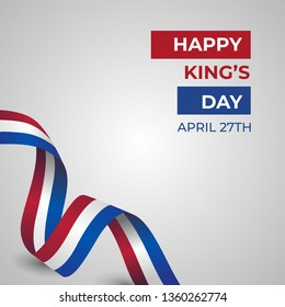 Happy Koningsdag Day Vector Template Design Illustration
