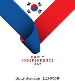 Happy Korea Republic Independence Day Vector Template Design Illustrator