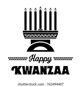 Happy Kwanzaa Banner,Vector