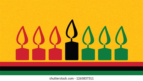 happy kwanzaa day  Greeting African Card Background Vector banner Kwanzaa festival concept with seven candles red black and green Candle flame logo icon icons sign sign fun funny symbol continent flag