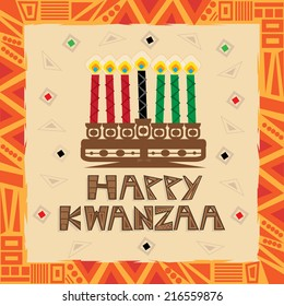 Happy Kwanzaa - Happy Kwanzaa decorative greeting card. Eps10