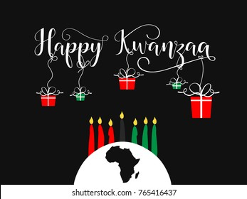 Happy Kwanzaa decorative greeting card