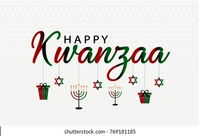 Happy Kwanzaa greeting card or background. vector illustration.
