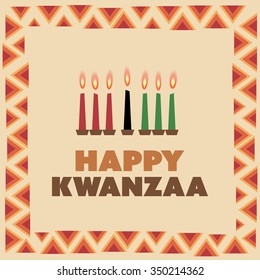 Happy Kwanzaa Greeting Card Design Template