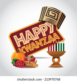 Happy Kwanzaa icon Eps10 vector