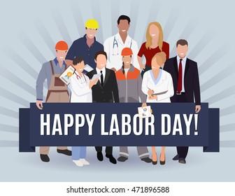 Happy Labor day american banner concept design, vector illustration