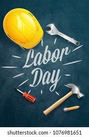 Happy Labor Day banner, poster. 1st May. Design template. Vector illustration