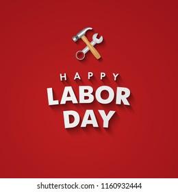 Happy Labor Day banner. Vector illustration. Eps 10