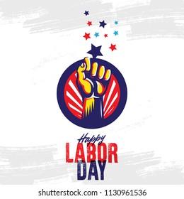Happy Labor Day design template. Vector illustration