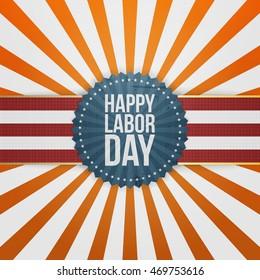 Happy Labor Day greeting Badge
