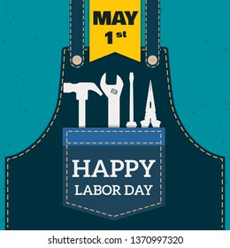 Happy Labor day Greetings Cards / Labor day design - Vector
