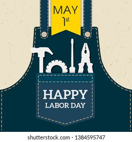 Happy Labor day Greetings Cards \u002F Labor day design \u002F Labor Day logo Poster, banner, brochure or flyer design - Vector