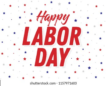 Happy Labor Day Holiday Vector Text for posters, flyers, marketing, social media, greeting cards, advertisement