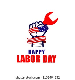 Happy Labor Day Logo Vector Template Design Illustration