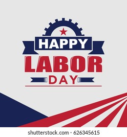 Happy Labor day, Mayday, Worker, Greeting Card