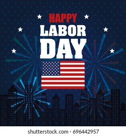 happy labor day national patriotic celebration