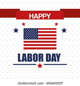 happy labor day national patriotic celebration stars background