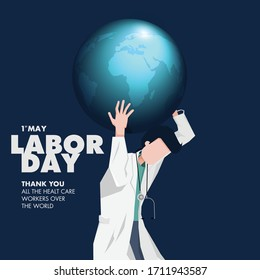 Happy Labor Day. Thank you all the healt care workers over the world.