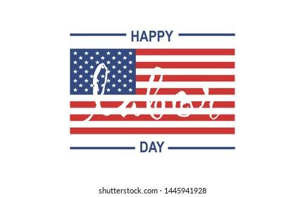 Happy Labor Day, USA logo design vector