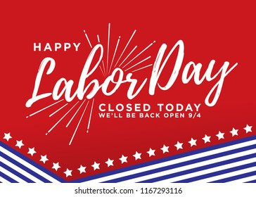 Happy Labor Day Vector Background Illustration Banner Sign