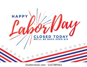 Happy Labor Day Vector Background Illustration Banner Sign