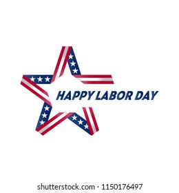 Happy Labor Day. Vector Illustration or greeting card.