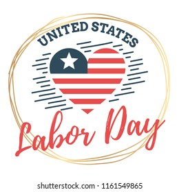 Happy labor day. Vector logo. Typography for greeting cards, posters, banners.