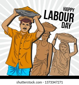 Happy labour day . india's poor labours working