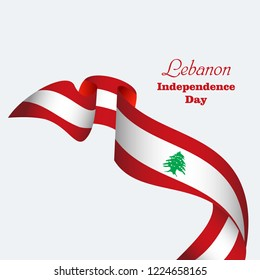 Happy Lebanon Independence Day Vector Template Design Illustration