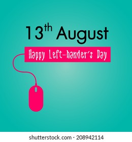 Happy Left-handers Day Background