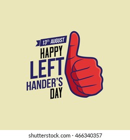Happy Left-handers Day. Vector Illustration