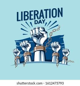 Happy Liberation Day Vector Illustration - Shutterstock ID 1612473793