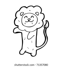 happy lion cartoon