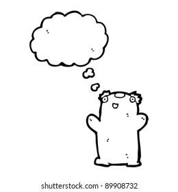 happy little teddy bear cartoon