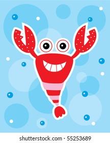 happy lobster doodle