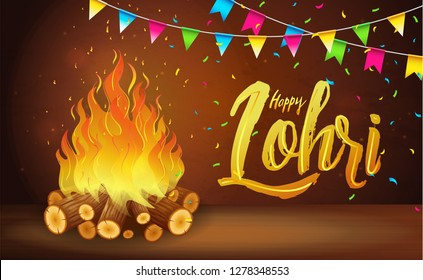 Royalty Free Lohri Invitation Card Stock Images Photos Vectors