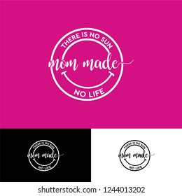 Happy made emblem or badge logo design template for label and clothing