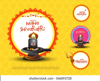 Happy Maha Shivaratri Background.