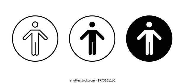 happy man icon, man with raised arms, Stick figure happiness, freedom, motion icons button, vector, sign, symbol, logo, illustration, editable stroke, flat design style isolated on white linear