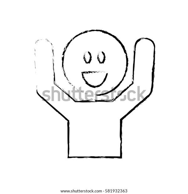 Happy man smiling icon vector illustration graphic design