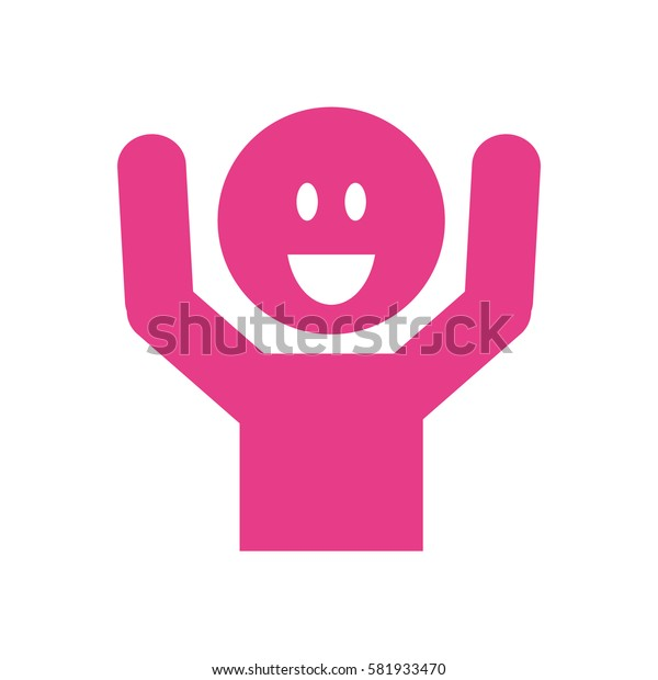 Happy man smiling icon vector illustration graphic design