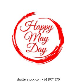 Happy May Day Logo Vector Template