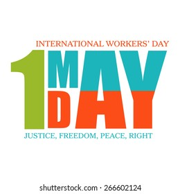 Happy May Day, Workers Day and Labor day designs background