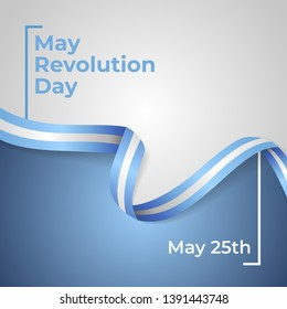 Happy May Revolution Day Vector Template Design Illustration
