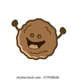 Happy Meatball Cartoon Vector