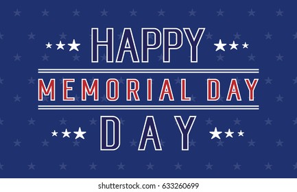 Happy memorial day background collection