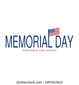 happy memorial day background with some special objects, vector illustration design