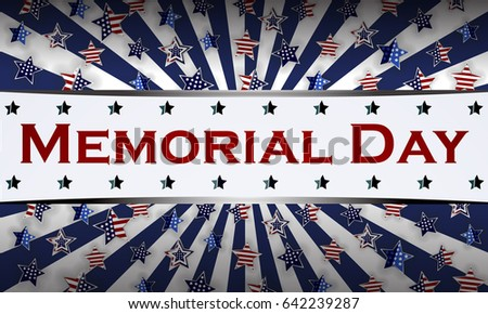 happy memorial day background template stars stock vector royalty